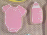 Baby Shower decorated cookie design by Sweet Themes Bakery