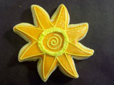 Flower decorated cookie design by Sweet Themes Bakery