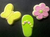 Summer decorated cookie design by Sweet Themes Bakery