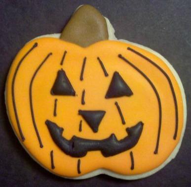 jack-o-lantern cookie