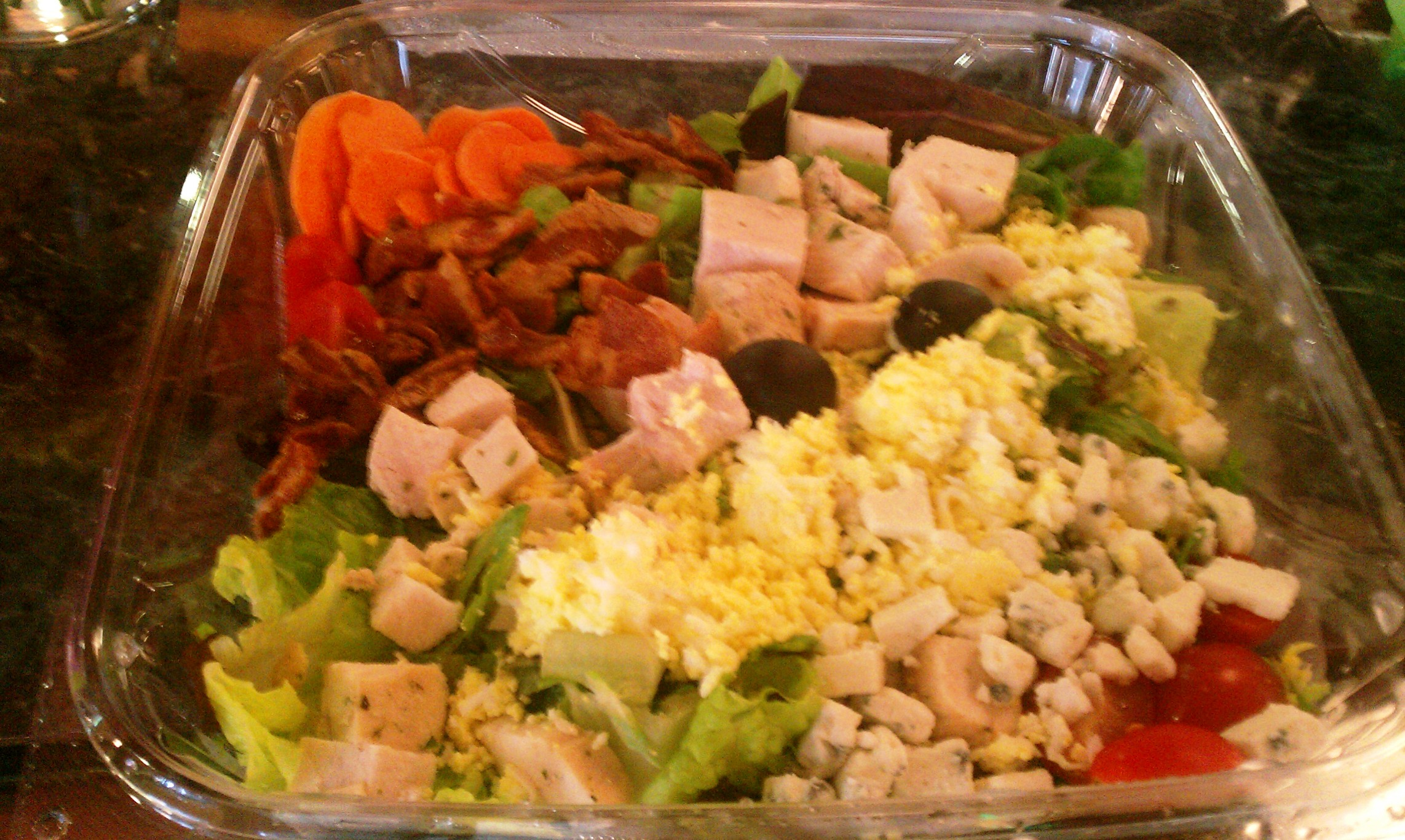 Deliciously Fresh Chicken Cobb Salad with Bacon, Cheese and More