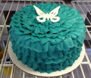 Ruffle Custom Cake Design at Sweet Themes Bakery Kent Washington