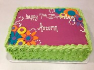 Flower Birthday Custom Cake Design at Sweet Themes Bakery Kent Washington