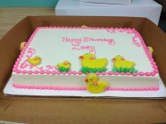 Rubber Duck Birthday Custom Cake Design at Sweet Themes Bakery Kent Washington
