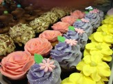 Assorted Flower Decorated Cupcakes Custom Cupcake Design at Sweet Themes Bakery Kent Washington