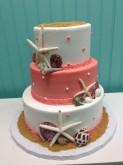 3-Tier Beach Wedding Shower Cake Custom cake design Sweet Themes Bakery Kent Washington