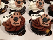 Cat Paw Dog Bone Cupcakes Custom Cupcake Design at Sweet Themes Bakery Kent Washington