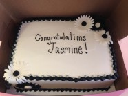 Congratulations Celebration Custom Cake Design at Sweet Themes Bakery Kent Washington