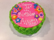 Flower Power Birthday Custom Cake Design at Sweet Themes Bakery Kent Washington