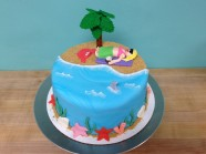 Beach Tropical Custom Cake Design at Sweet Themes Bakery Kent Washington