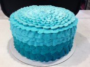 Ruffle Cake Custom Cake Design at Sweet Themes Bakery Kent Washington