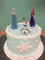 Frozen Princess Anna Princess Elsa Custom Cake Design at Sweet Themes Bakery Kent Washington