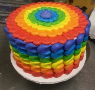 Rainbow Gay Pride Custom Cake Design at Sweet Themes Bakery Kent Washington