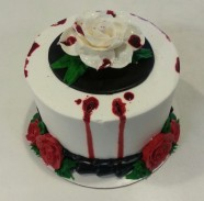 Valentine Rose Custom Cake Design at Sweet Themes Bakery Kent Washington