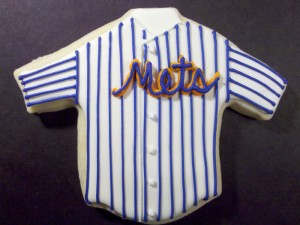 Baseball Jersey cookie design from Sweet Themes Bakery near Seattle in Kent, WA