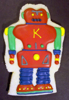 Robot Cookie photo from Sweet Themes Bakery near Seattle in Kent, WA