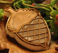 acorn decorated sugar cookie