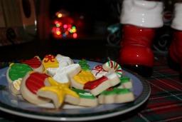 Holiday sugar cookies for Santa