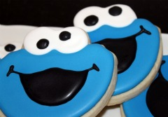 Cookie monster cookies from Sweet Themes Bakery, Kent WA