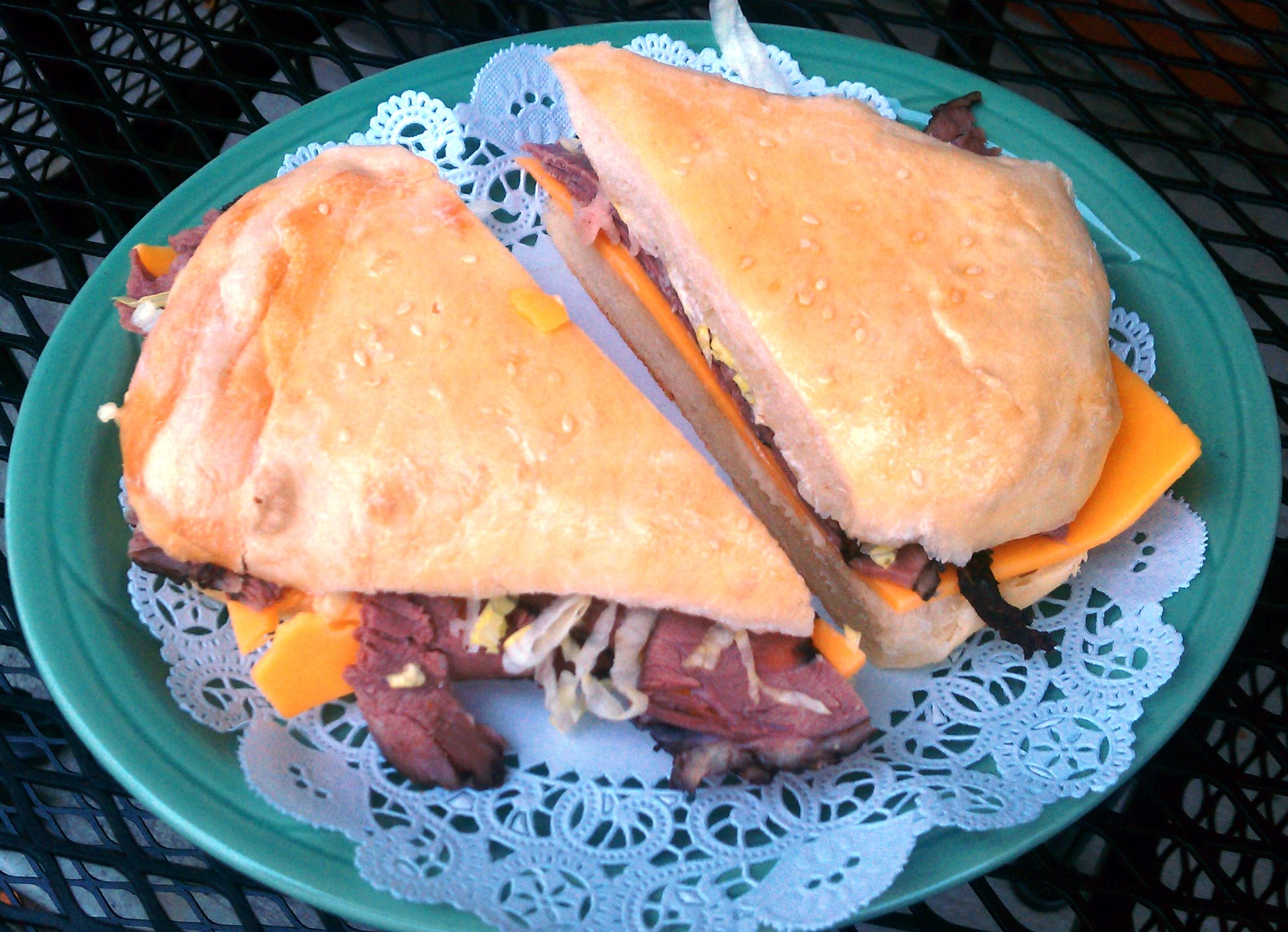 Roast Beef & Cheddar on a Freshly Baked Roll