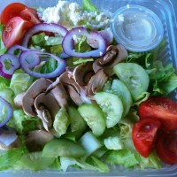 Our meatless chef salad is ideal for vegetarians or those who enjoy meatless meals.