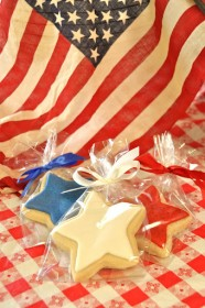 Celebrate the Fourth of July in style with an assortment of holiday themed custom cookies.