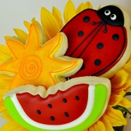 Watermelon, Sun and LadyBug Cookies
