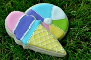 Ice Cream Cone & Beach Ball Cookies are fun for a summer party.