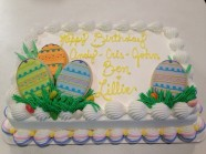 Easter Custom Cake Design at Sweet Themes Bakery Kent Washington