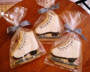 We made these custom sugar cookies to celebrate Skate America coming to Kent in 2012.