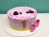 Pink Minnie Mouse Cake Custom cake design Sweet Themes Bakery Kent Washington