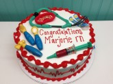 Nurse Graduation Cake Custom cake design Sweet Themes Bakery Kent Washington