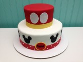 2-Tier Mickey Mouse Cake Custom cake design Sweet Themes Bakery Kent Washington