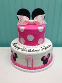 2-Tier Minnie Mouse Cake 2 Custom cake design Sweet Themes Bakery Kent Washington