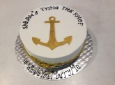 Anchor Bridal Shower Cake Custom cake design Sweet Themes Bakery Kent Washington