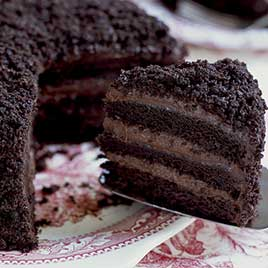 Airways Brewing & Bistro pairs smokey and sweet, featuring Sweet Themes Brooklyn Blackout Cake.