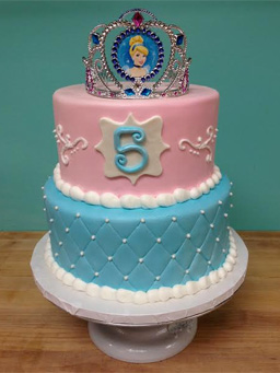 photo of cinderella birthday cake by Sweet Themes Bakery