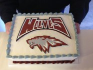 Logo Wolves Cake Custom Cake Design at Sweet Themes Bakery Kent Washington