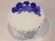 Flower Birthday Celebration Shower Cake Custom Cake Design at Sweet Themes Bakery Kent Washington