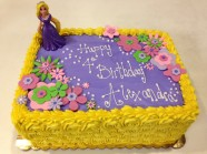 Tangled Birthday Custom Cake Design at Sweet Themes Bakery Kent Washington