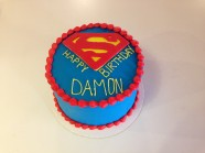 Superman Birthday Custom Cake Design at Sweet Themes Bakery Kent Washington