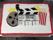 Movie Screen Custom Cake Design at Sweet Themes Bakery Kent Washington