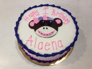 Monkey Sock Birthday Custom Cake Design at Sweet Themes Bakery Kent Washington