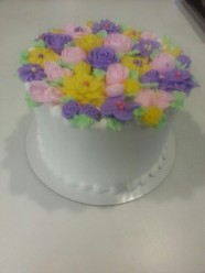 Flower Birthday Cake Custom Cake Design at Sweet Themes Bakery Kent Washington
