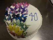 Butterfly Birthday Cake Custom Cake Design at Sweet Themes Bakery Kent Washington