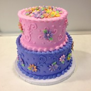 Flower Birthday Bridal Baby Wedding Shower Custom Cake Design at Sweet Themes Bakery Kent Washington