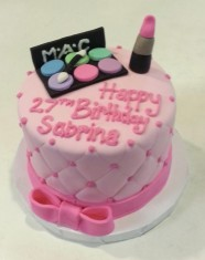 MAC Make up Birthday Custom Cake Design at Sweet Themes Bakery Kent Washington