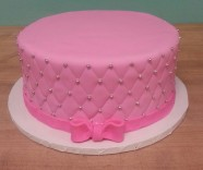 Quilted Pattern Birthday Anniversary Wedding Bridal shower Custom Cake Design at Sweet Themes Bakery Kent Washington