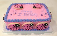 Lady Bug Cake Custom Cake Design at Sweet Themes Bakery Kent Washington