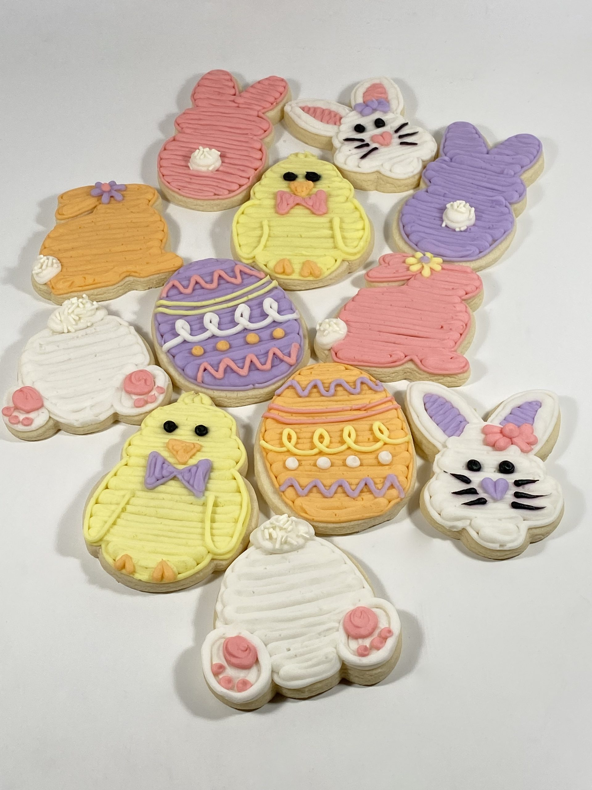 Cookie Box Backer Easter Cookie Backer Easter Bunny Hearts Cookie Box Packaging 5 Easter Bunnies Chicks Hearts Eggs Cookie Box Backer